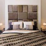 une tete de lit moderne marron