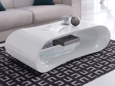 illustration d'une table basse design blanche