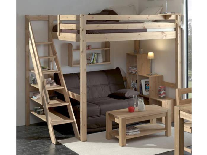 lit superpose une personne