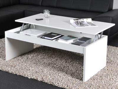 photo d'une table de salon relevable