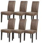photo de 6 chaise en cuir de salon