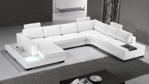 canape d angle en cuir blancillustration d'un canapé d'angle blanc en cuir