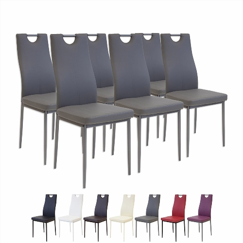 Chaise de salle a manger en cuir design for Chaise design rouge salle a manger