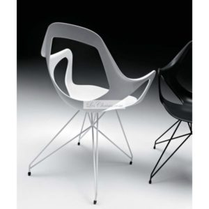 Photo d'une chaise originale blanche