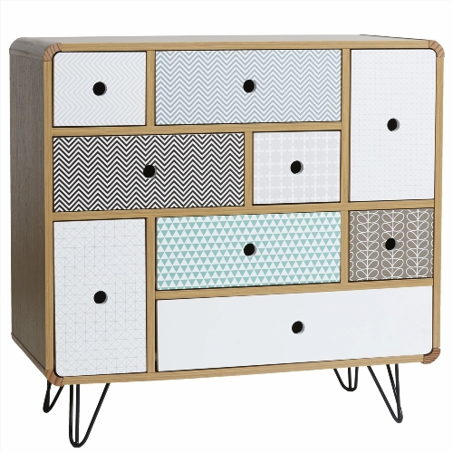 commode 9 tiroirs conforama