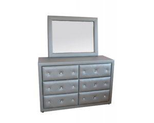commode chambre avec miroir en photo grise