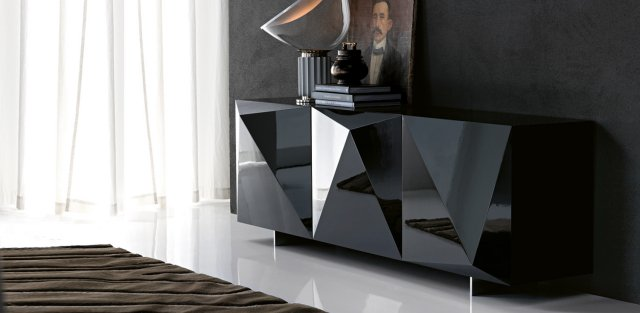 Commode design noire en image