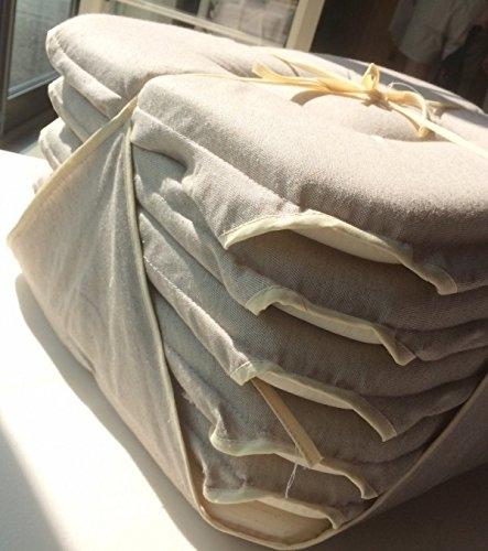 galette de chaise imitation cuir