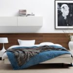 tete de lit en bois clair en meuble