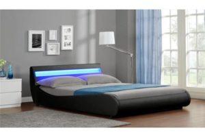 photo d'un lit 2 personnes à led