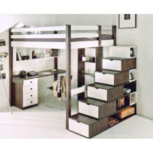 Lit mezzanine avec escalier en illustration