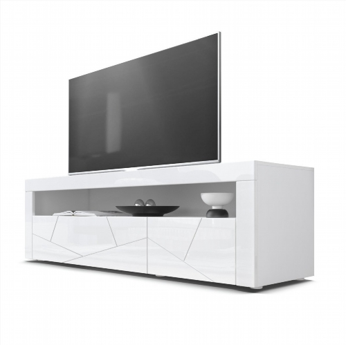 meuble tv bas blanc pas cher. Black Bedroom Furniture Sets. Home Design Ideas