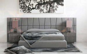 image d'une tete de lit design grise