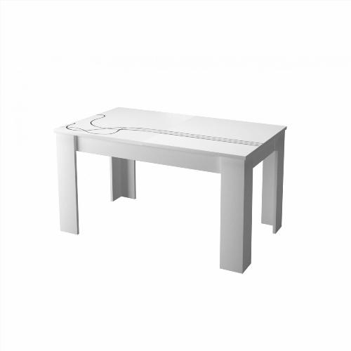 Table a manger blanc laque - Ou acheter une table de salle a manger ...