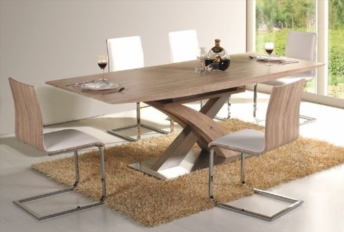 Table a manger fer forge et bois for Table a manger bois et fer