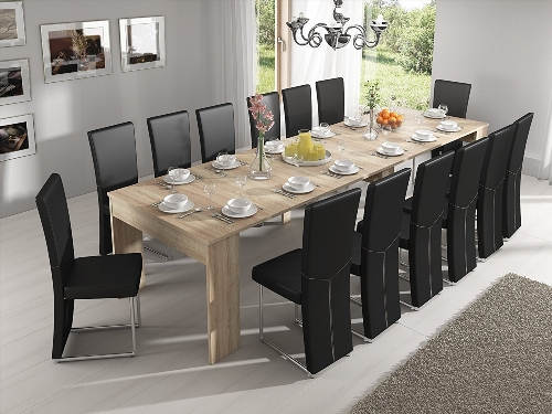 Table console retractable for Table de salle a manger contre un mur