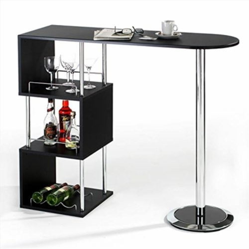 table de bar avec rangement. Black Bedroom Furniture Sets. Home Design Ideas