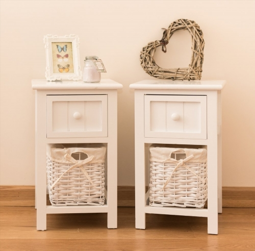 Table de chevet hemnes blanc for Table de chevet en fer