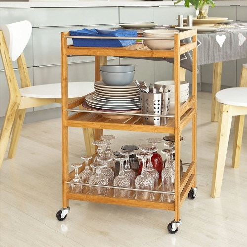 table desserte a roulettes pliante