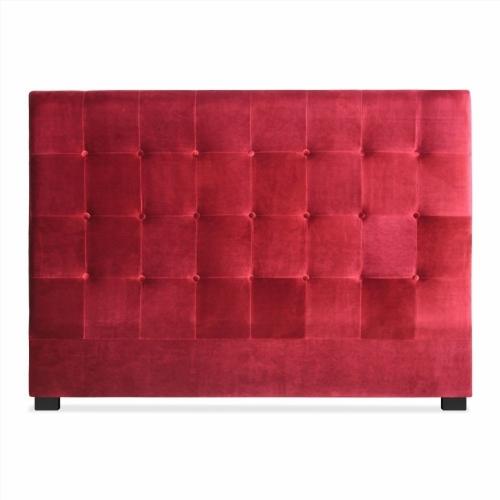 tete de lit velours gris. Black Bedroom Furniture Sets. Home Design Ideas