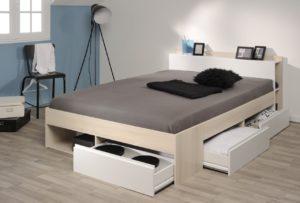 image d'un lit avec tiroir